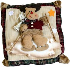 cojines decorativos navideños - Buscar con Google Christmas Projects, Christmas Ideas, Gingerbread Cookies, Pillow Covers, Teddy Bear, Pillows, Google, Xmas Decorations, Tela