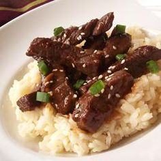 Super-Spicy Mongolian Beef - Cook it in the crockpot for 4 hours on high or all day on low.