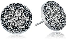 Fossil Ombre Glitz Silver Stud Earrings >>> Visit the image link more details.