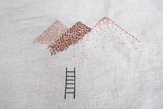 bordados: bordados a mano // handmade embroidery - montaña