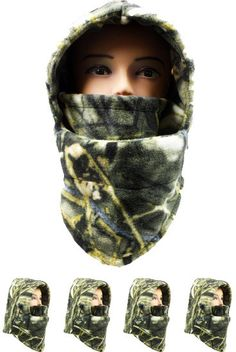 real tree light camouflage fleece winter ski mask Case of 72
