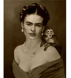 Self-Portrait with small monkey - Google Search