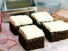 Gingerbread Squares with Cream Cheese Frosting from Kelsey Nixon and  CookingChannelTV.com