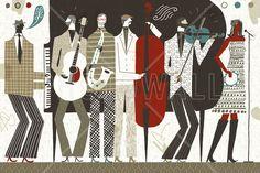 The Band Neutral - Schilderijen op canvas - Photowall