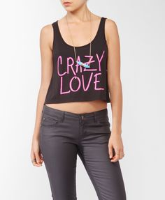 Crazy Love Lace Back Tank | FOREVER21 - 2017941424
