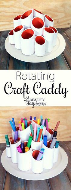 Make a Rotating Marker Caddy