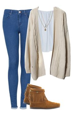 """Untitled #869"" by bella-avery-thorne-anon ❤ liked on Polyvore featuring Topshop, River Island, Minnetonka and Rachel Rachel Roy"