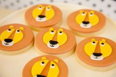 Lion cookies for a Modern Circus Party from Sooti Event + Design Read more - http://www.stylemepretty.com/living/2013/07/22/a-modern-circus-party-from-sooti-event-design/