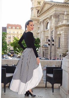 Black and White  Alexandra Vajda designer dress