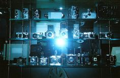 Super old photo taken in the deutsche museum in germany, taken on a disposable camera #germany #munich #vintage #old #retro #camera #disposable #flash #blue