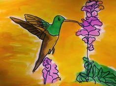 We Care Arts - easy bird watercolor art lesson