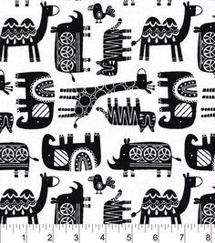 Snuggle Flannel Fabric-Safari Friends