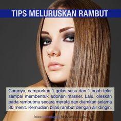 Tag temen kamu yang perlu dilurusin rambutnya  #rahasiagadis #rahasiarambut Natural Beauty Tips, Health And Beauty Tips, Beauty Make Up, Beauty Care, Beauty Skin, Beauty Hacks, Hair Beauty, Creative Hairstyles, Hair Care Routine
