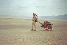 Karl Bushby no início de sua caminha no Chile em 1998. - Foto: arquivo pessoal