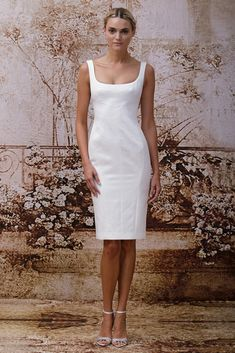 Monique Lhuillier Bridal Fall 2014 - this dress would be great for the rehearsal dinner