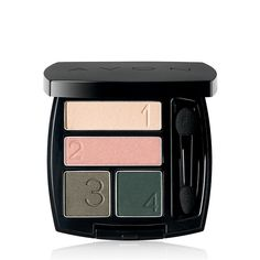 Complementaryshades, Avon True Color Eyeshadow Quad...Exquisite stay-true coordinated shades make every eye look effortless.BENEFITS• Numbered shades for our easiest expert eye looks• Color saturated shades designed for absolutely every skin tone• The rich color you see is the same color you get on your eyes• Convenient mirrored compact• Crease-proof• Stay-true colorTO USE• Lightest shade (1) goes on the brow bone• Accent shade (2) goes in the inner corner• Medium shade (3) goes in the…