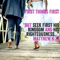 "As I prayed for friends struggling with infertility, this is a word that the Lord dropped in my spirit. ""First things First"" and then Matthew 6:33"
