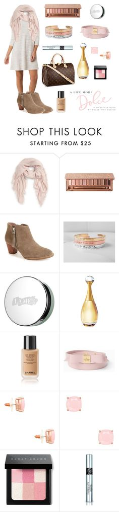 """""""Pink & Greige for Gray Weather Days"""" by alifemoredolce on Polyvore featuring BP., Urban Decay, Vionic, La Mer, Christian Dior, Kate Spade and Bobbi Brown Cosmetics"""