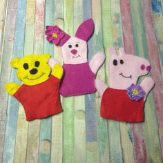 Diy hand puppets pipsa the pig, pooh and piglet!