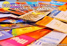 968. Collecting maps, fast passes and tickets from your trip