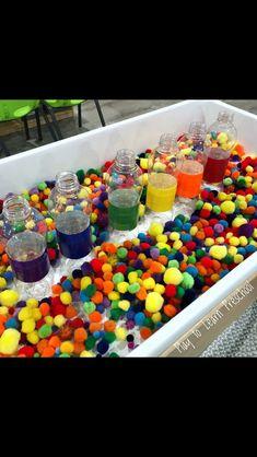Color Activities For Toddlers, Autism Activities, Sensory Activities, Toddler Activities, Toddler Fun, Science Center Preschool, Preschool Tables, Kindergarten Lessons, Kindergarten Activities