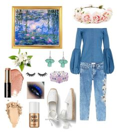 """""""Monet water lilies"""" by i-have-no-username-ideas on Polyvore featuring Forever 21, MANGO, Caroline Constas, Monet, Bobbi Brown Cosmetics, Violet Voss and Benefit"""