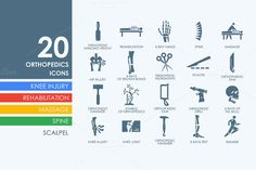 20 orthopedics icons by Palau on Creative Market
