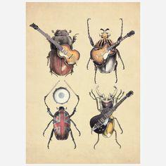 Fab.com   Meet the Beetles 17x24