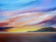 GOLDEN GLOW by Enda Bardell, Watercolor