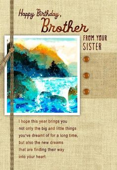Sisters Birthday Cards New Big Brother Birthday Card Front View Personalised –