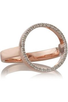 Diva Circle rose gold-plated diamond ring #ring #women #covetme #monicavinader #fashion #bbloggers