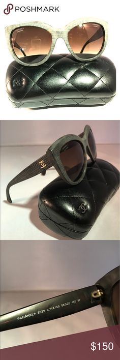 Chanel Sunglasses CHANEL 5332.  Tweed Effect Signature in Grey.  Pairs well with any outfit.  Excellent condition with no sign of wear.  Case included. CHANEL Accessories Sunglasses