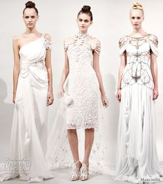 Fantasy Wedding Dresses by Marchesa for Spring Summer 2011 - Handmade Victorian Steampunk and Gothic Wedding Dresses Collection from Best Alternative Bridal Gowns Designers including Romantic Medieval Witchy and Pagan Fantasy Wedding Dresses, Wedding Gowns, Designer Evening Dresses, Designer Wedding Dresses, Marchesa Gowns, Marchesa Bridal, Marchesa Spring, Dress Out, Chic Dress