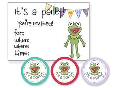 my soon-to-be-one year old doesn't know who kermit is.... yet! so excited for these clever ideas and free printables
