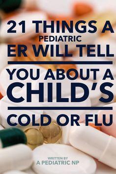 Child cold & flu guide written by pediatric NP