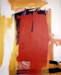 Franz Kline, Harley Red, abstract painting in bright colours, abstract expressionism