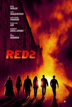 Teaser pôster do filme de ação RED 2