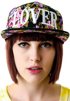 United Couture Lover Midnight Floral Snapback | Dolls Kill