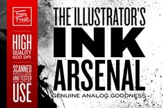 The Illustrator's Ink Arsenal by Fancy Ferret Studios on Creative Market