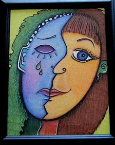 picasso face - contrasting perspective and emotion