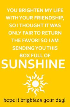Box of Sunshine Gift Tag