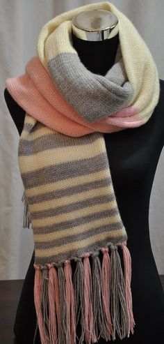 Wool Scarf Traditional Fringed Australian Merino by CopperPenni