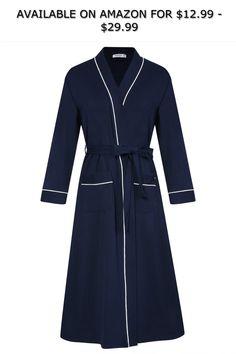 64388b4982 AMONIDA Womens Cotton Long Robes Spa Kimono Knit Bathrobe Soft Sleepwear ◇  AVAILABLE ON AMAZON FOR