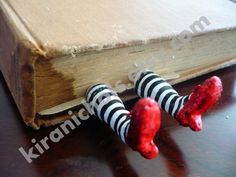 The ORIGINAL Wicked Witch Bookmark  - Ruby Slippers Bookmark - Witch Legs Bookmark. $21.00, via Etsy.