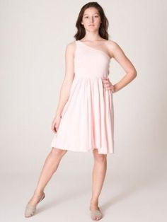 American Apparel Baby Rib One-Shoulder Dress