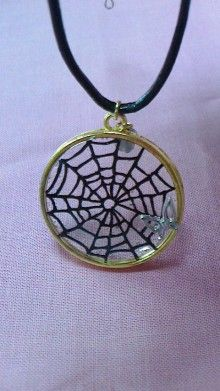 resin  切り絵「蜘蛛の巣」