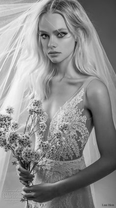 "lihi hod bridal 2017 sleeveless sheer strap full lace embellishment romantic a line wedding dress open back sweep train (alex) zv -- Lihi Hod 2017 ""Dreams"" Bridal Collection"