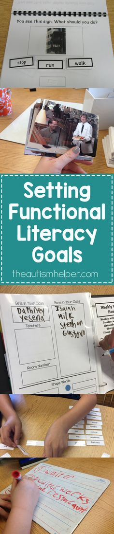 Fight the misconception that our instruction or activities have to be either academic or functional. We NEED a balance of both, so today's all about important considerations for setting functional literacy goals that challenge students appropriately!! Follow on the blog! From theautismhelper.com #theautismhelper