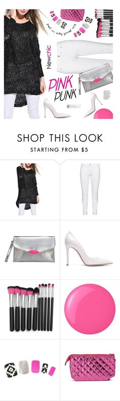 """""""Pink Punk"""" by ansev ❤ liked on Polyvore featuring Steilmann, Gianvito Rossi, Essie and newchic"""