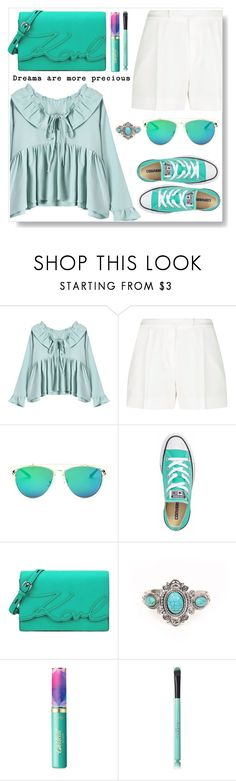 """Mint Style"" by simona-altobelli ❤ liked on Polyvore featuring Elie Saab, Converse, Karl Lagerfeld, tarte, StreetStyle, MyStyle, mint and sneakers"